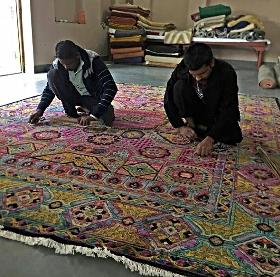 Finally, the rug is dried in the sun before being inspected thoroughly before export. (Image-NC Larsen)