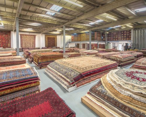 Persian & Modern Rugs' Partner warehouse in North London